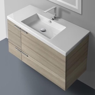 39 Inch Vanity Cabinet With Fitted Sink ACF ANS34-Larch Canapa
