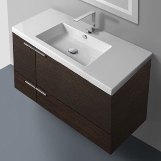 39 Inch Vanity Cabinet With Fitted Sink ACF ANS34-Wenge