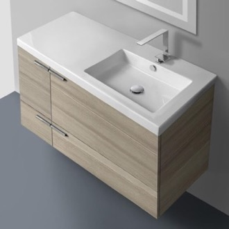 39 Inch Vanity Cabinet With Fitted Sink ACF ANS45