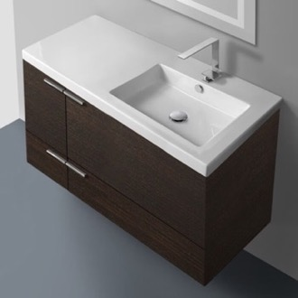 39 Inch Vanity Cabinet With Fitted Sink ACF ANS45-Wenge