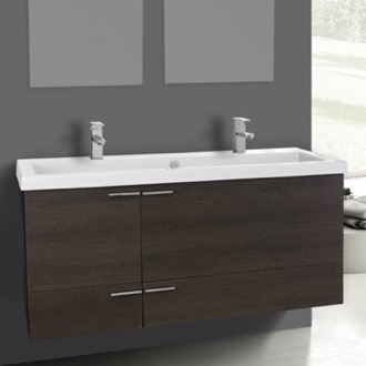 Bathroom Vanity 47 Inch Grey Oak Bathroom Vanity Set, Double Sink ACF  ANS1106