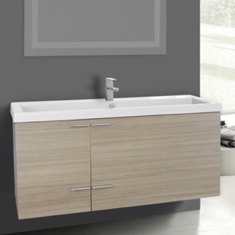 47 Inch Larch Canapa Bathroom Vanity Set, Large Basin Sink ACF ANS371