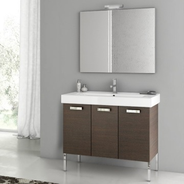 39 Inch Bathroom Vanity Set ACF C04-Wenge