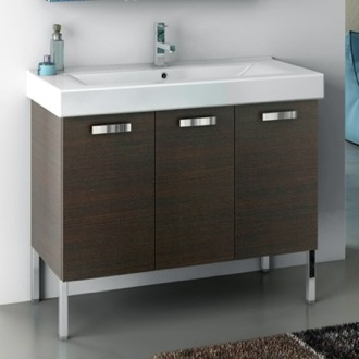 39 Inch Vanity Cabinet With Fitted Sink ACF C16-Wenge