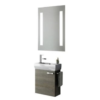 Bathroom Vanity 18 Inch Bathroom Vanity Set ACF C124-Larch Canapa
