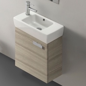 18 Inch Vanity Cabinet With Fitted Sink ACF C13-Larch Canapa