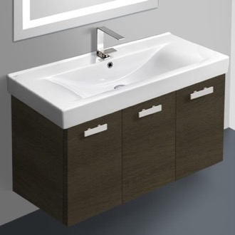 39 Inch Vanity Cabinet With Fitted Sink ACF C19-Grey Oak