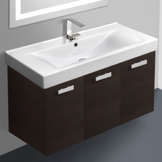 39 Inch Vanity Cabinet With Fitted Sink ACF C19-Wenge