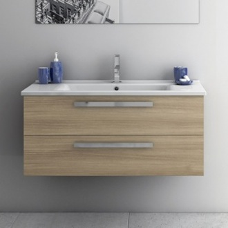 Bathroom Vanity 38 Inch Vanity Cabinet With Fitted Sink ACF DA06