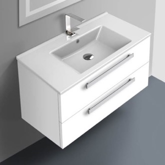 33 Inch Vanity Cabinet With Fitted Sink ACF DA05