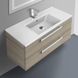38 Inch Vanity Cabinet With Fitted Sink ACF DA06-Larch Canapa