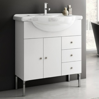 32 Inch Vanity Cabinet With Fitted Sink ACF LON03