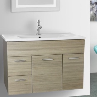 Bathroom Vanity 33 Inch Larch Canapa Bathroom Vanity Set, Wall Mounted ACF LOR10