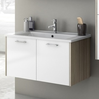 33 Inch Vanity Cabinet With Fitted Sink ACF NI04