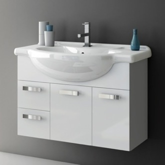 Bathroom Vanity 32 Inch Vanity Cabinet With Fitted Sink ACF PH08