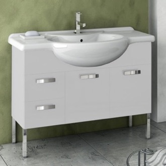 39 Inch Vanity Cabinet With Fitted Sink ACF PH10-Glossy White