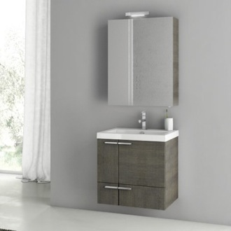 23 Inch Grey Oak Bathroom Vanity Set ACF ANS148