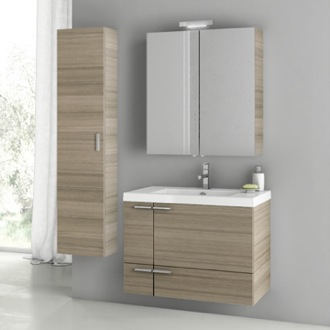 31 Inch Larch Canapa Bathroom Vanity Set ACF ANS167