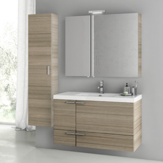 39 Inch Larch Canapa Bathroom Vanity Set ACF ANS179