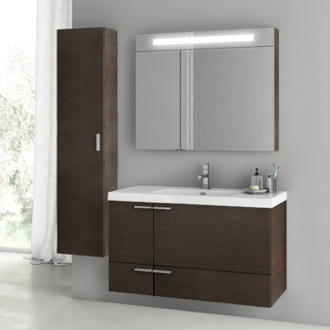 39 Inch Wenge Bathroom Vanity Set ACF ANS184