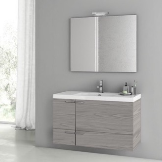39 Inch Grey Walnut Bathroom Vanity Set ACF ANS1434