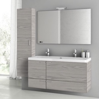 47 Inch Grey Walnut Bathroom Vanity Set ACF ANS1404