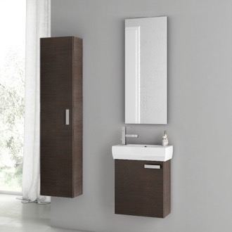 18 Inch Wenge Bathroom Vanity Set ACF C29