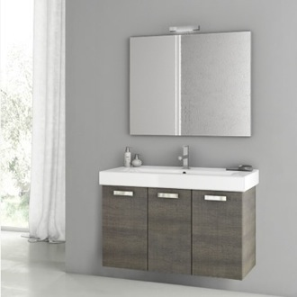 39 Inch Grey Oak Bathroom Vanity Set ACF C43