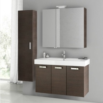 39 Inch Wenge Bathroom Vanity Set ACF C92