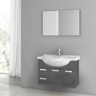 32 Inch Glossy Anthracite Bathroom Vanity Set ACF PH11
