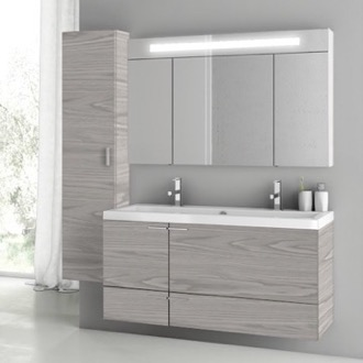 47 Inch Grey Walnut Bathroom Vanity Set ACF ANS1412