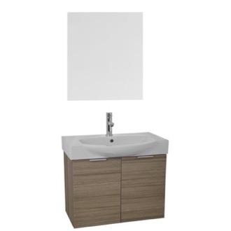 Bathroom Vanity 28 Inch Larch Canapa Wall Mounted Bathroom Vanity Set, Vanity Mirror Included ARCOM KAL48