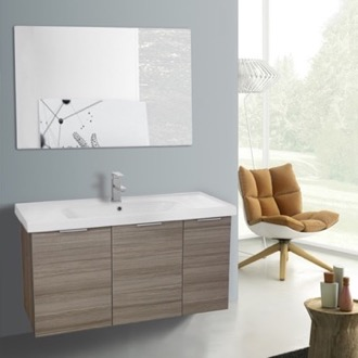 Bathroom Vanity 39 Inch Larch Canapa Wall Mounted Bathroom Vanity Set, Vanity Mirror Included ARCOM LAM08