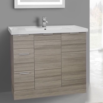 Bathroom Vanity 39 Inch Floor Standing Larch Canapa Vanity Cabinet With Fitted Sink ARCOM WA05