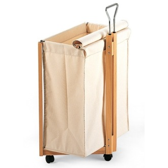 Laundry Basket Natural Beech Wood Linen Basket 401-N Aris 401-N