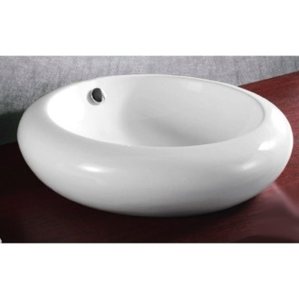 Bathroom Sink Round White Ceramic Vessel Bathroom Sink Caracalla CA4165