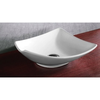 Bathroom Sink Square White Ceramic Vessel Bathroom Sink Caracalla CA4922