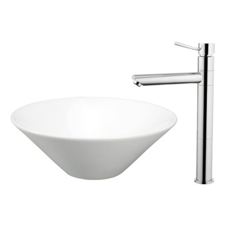 Bathroom Sink and Faucet Set Ceramic Bathroom Sink and Faucet Combo Caracalla FAU501