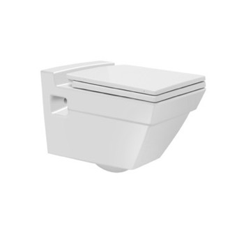White Ceramic Wall Mount Toilet CeraStyle 018000