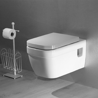 Toilet White Ceramic Wall Toilet Mount Cerastyle 018200