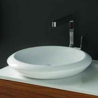 Bathroom Sink Round White Ceramic Vessel Sink 075100-U CeraStyle ...
