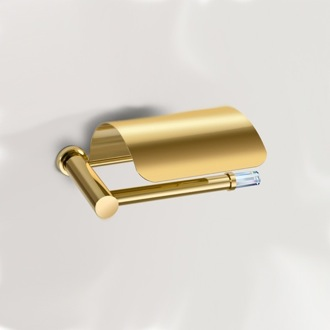 Toilet Paper Holder Toilet Roll Holder with Swarovski Crystal and Cover 85651 Windisch 85651