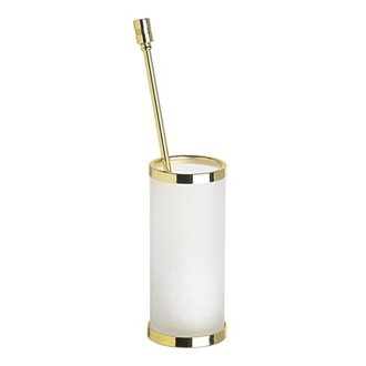 Toilet Brush Round Frosted Glass Toilet Brush Holder 89109M Windisch 89109M