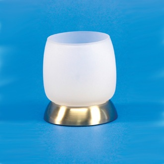 Toothbrush Holder Round Frosted Crystal Glass Tumbler Windisch 94575MD