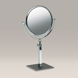 Makeup Mirror Pedestal Double Face 3x, 5x, or 7x Chrome Magnifying Mirror 99135R Windisch 99135R