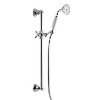 Hand Held Shower Classic Brass Sliding Rail With Brass Hand Shower S2044/3 Fima S2044/3