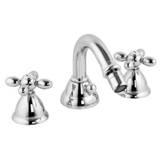 Bidet Faucet Classic Three Holes Bidet Set With Swivel Spout S5002 Fima S5002