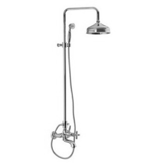 Shower Column Wall Mounted Classic Tub/Shower Faucet With Rainhead And Hand Shower Set S5004/2 Fima S5004/2