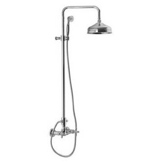 Showerpipe System Wall Mounted Classic Shower Faucet With Rainhead And Hand Shower Set S5005/2 Fima S5005/2