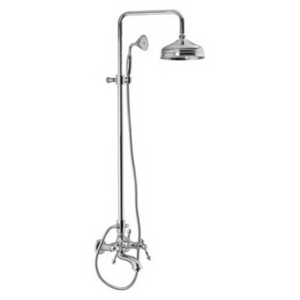 Shower Column Wall Mounted Classic Tub/Shower Faucet With Rainhead And Hand Shower Set S5054/2 Fima S5054/2